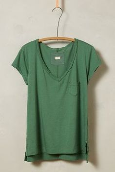 t.la Rolled V-Neck Tee #anthrofave