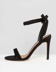 ASOS HENRIETTA Barely There Heeled Sandals - Black