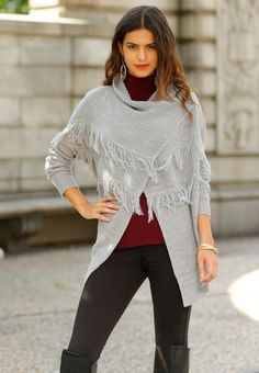 Add a bohemian beat to your look with this adventurous cardigan. #catofashions #sweaterweather