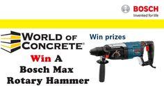 Win a Bosch Max Rotary Hammer