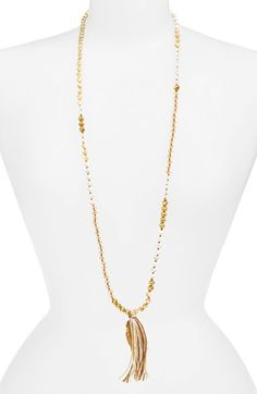 Chan+Luu+Long+Beaded+Necklace+available+at+#Nordstrom