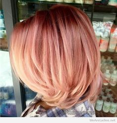 Wonderful rose gold hair look inspiration