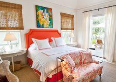 coral bedroom from visual comfort Coral Bedroom, Bedroom Orange, Coral Bedding, Bedroom Colors, Home Bedroom, Bedroom Decor, Bedroom Ideas, Master Bedroom, Bedroom Couch