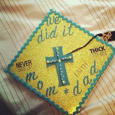 We did it- never give up grad cap