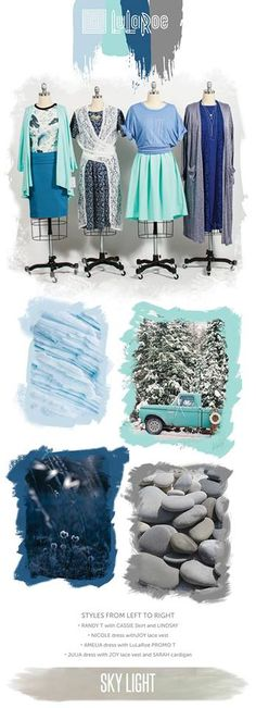 Winter fashion inspiration - mint, ice blue, cobalt, blue - LulaRoe outfit ideas - LulaRoe winter styling #lularoe #winterstyle #winteroutfit #winterphotos