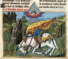 .;. Miniatura tratta dalla 'Legenda Aurea' (1470), British Library