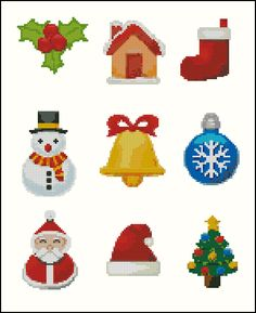 Golden Light Designs: Free Cross Stitch Pattern - Christmas Ornaments Collection 2012