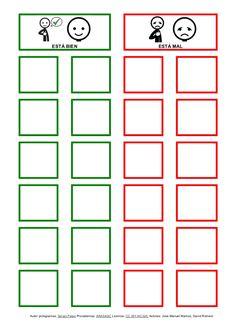 Tableros con pictogramas de ARASAAC para trabajar el autocontrol y la regulación de la conducta.