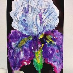 """Цветное пятно с названием """"Ирис""""🌺😅 #artaleshkak #цветочекaleshkak"""