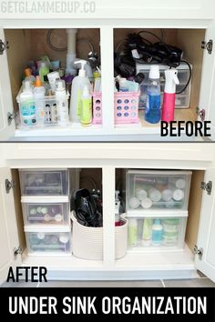 Give every thing a clean sweep before replacing any items. Lay down liner paper or cloth on the bottom of cabinets so you can clear it easier in the future. A magnetic wall show is one of the simplest ways to add storage in your bathroom. Add a mini storage shelf to either side beneath your sink to make use of up all empty space in your rest room. Bathroom Sink Organization, Sink Organizer, Diy Bathroom Decor, Closet Organization, Bathroom Interior, Bathroom Ideas, Bathroom Remodeling, Bathroom Makeovers, Undersink Bathroom Storage