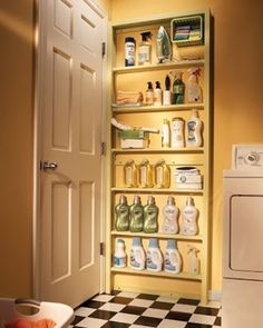Awesome idea for all the rooms! Shoe Storage, Keys, etc... So when door is open it reveals a neat tidy uncluttered space-But your junk is behind the door! Jax