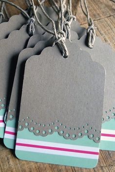 Gift Tags by Pickle Dog Design - not thrilled by the colors but its a cute idea!