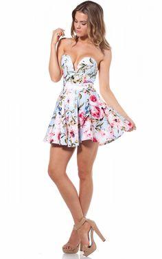 Blue Betty dress in mint blue floral | SHOWPO Fashion Online Shopping