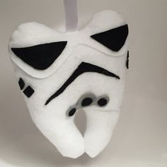 Storm Trooper Tooth Fairy Pillow by TheUpcycledOwlShop on Etsy
