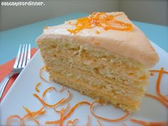 Orange Buttermilk Cake with Zesty-Sweet Curd Filling