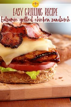 With creamy Deli American, pepper bacon and balsamic mayo, this grilled chicken sandwich will even tempt traditional burger lovers.