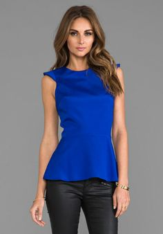 NAVEN Amour Blouse in Vegas Blue - Blouses