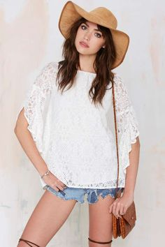 Raina Lace Blouse - Shirts + Blouses