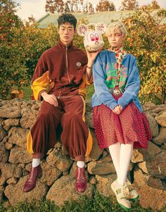 Our heaven (Vogue Korea) Fashion Moda, Look Fashion, Fashion Outfits, Fashion Design, Japanese Fashion, Asian Fashion, High Fashion, Vogue Korea, Estilo Harajuku
