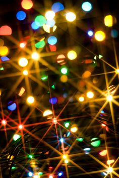 One of my favorite aspects to the *Yule* season is the twinkle of lights illuminating from the trees & homes as I drive/walk by {ESPECIALLY when said lights are multi-colored}-- something about that twinkle puts me in a different realm of existence-- which has since I was a wee one!