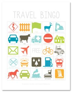 Screen-free car games for kids: Travel Bingo printable from Simple as That