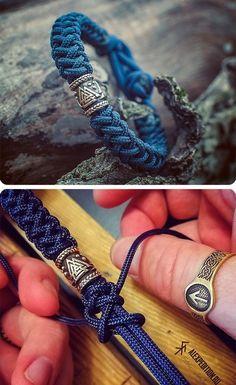 Paracord Braids, Paracord Bracelets, Bracelets For Men, Macrame Bracelet Patterns, Macrame Jewelry, Paracord Tutorial, Bracelet Tutorial, Bracelet Crafts, Jewelry Crafts