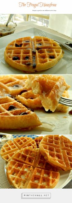 Marion Cunningham's Overnight Yeasted Waffles - A very crispy, light, airy waffle, not very sweet with a strong sour-dough flavor. i had issues with my Belgian Waffle maker (it turns and the batter was thin) and added a bit more flour. You can see the bottom photo - extra flour in the upper left one. Happy International Waffle Day!