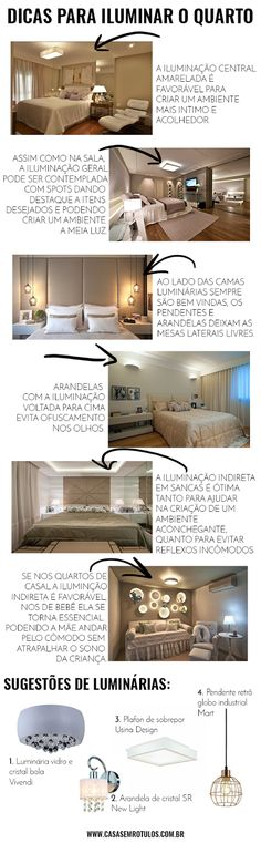 Casa Sem Rótulos, dicas de iluminação, como iluminar sua casa, iluminação geral, como iluminar seu quarto, dicas para quarto, iluminação quarto Interior Design Tips, Interior Design Living Room, Interior Decorating, Estilo Interior, Welcome To My House, Suites, Home Staging, Decoration, Lighting Design