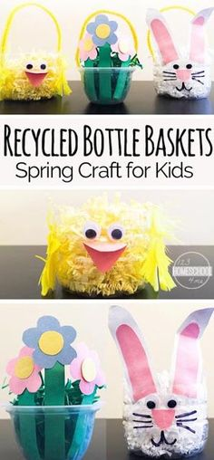 Super cute, easy to make Easter basket craft for kids perfect spring craft for kids