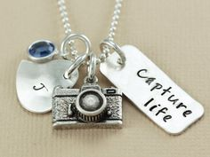 Personalized Hand Stamped Necklace  Custom by ChristinaGuenther, $68.00