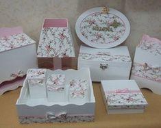 Kit Higiene Decoração de Luxo Floral