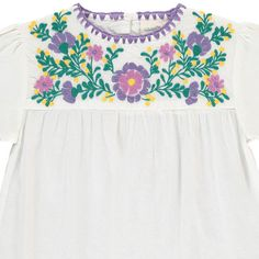 Louis Louise Noelia Embroidered Blouse  White