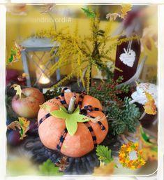Fabric decor pumpkin