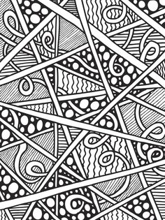 Abstract Doodles Coloring Book 4 By AbstractDoodles On Etsy