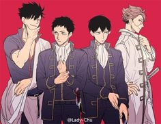 Haikyuu x Gintama - Anime crossover Haikyuu Funny, Haikyuu Ships, Haikyuu Fanart, Haikyuu Anime, Daichi Sawamura, Kageyama Tobio, Kagehina, Haruichi Furudate, Gekkan Shoujo Nozaki Kun