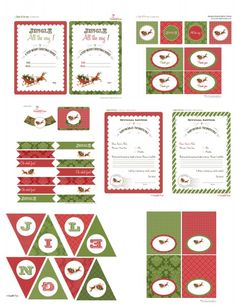 free christmas party printables decorations invitation