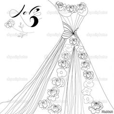 Wedding Dress Coloring Pages Jos Gandos For Kids