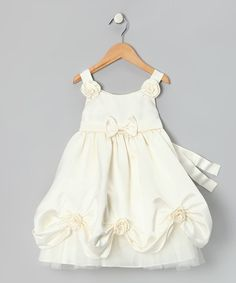 Furniture and candlesticks may just walk and talk when this dress is slipped on. Reminiscent of Belle's ball gown, this dress is fit for a princess-in-training with buttons down the back and a beautiful full skirt.100% polyesterMachine wash; tumble dryImported