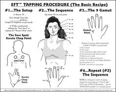 EFT   >   I have used this technique for years and a million times on myself and my loved ones. It is non-invasive and totally positive. It works. Just do it.