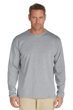 Our Bamboo Cotton Long Sleeve Shirt is the perfect SPF Shirt for your outdoor endeavors. All of Coolibar's Sun Screen Shirts have UV protection built right into the microfibers.