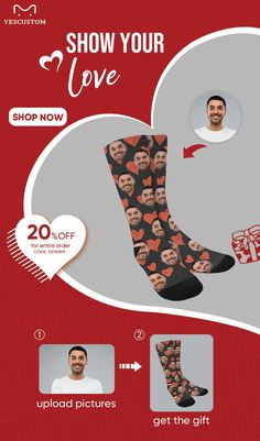 Lovely Birthday or Christmas Gift Black Socks With Red Lips Design