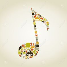 musical food note