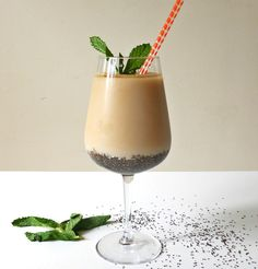 Earl Grey Chia Seed Boba | Chia seeds replace boba in this delicious milk tea drink