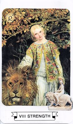 VIII Strength - Connie's Collage Tarot Deck
