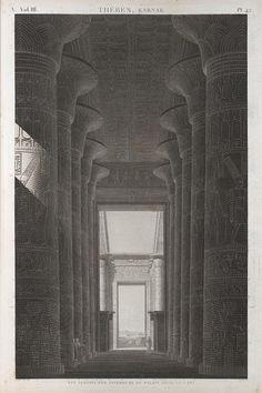 French engraving of Karnak, from the Description de l'Égypte 1812 edition, via Flickr.