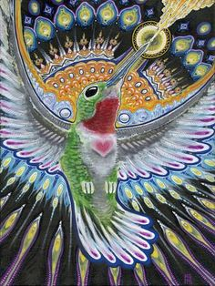 Beija Flor, art - Michael Garfield Visionary Art (michaelgarfieldart.com)