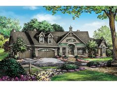 Craftsman House Plan with 3335 Square Feet and 4 Bedrooms from Dream Home Source | House Plan Code DHSW075911