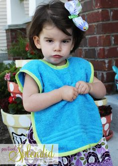 Toddler Bib & Smock Pattern   Positively Splendid {Crafts, Sewing, Recipes and Home Decor}