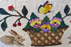Close up of the border basket on my Heartland quilt. Made by Janet Beyea