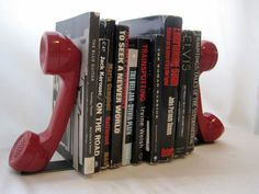 Vintage BookendsSet of TwoRed TelephonesVery by yourauntiespanties, $42.00